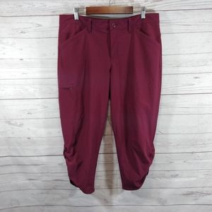 Eddie Bauer Capri pants ruched pants
